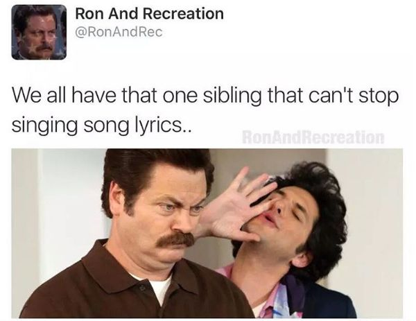 Having to hear the same song over and over again: | 24 Pictures That Will Make People With Siblings Laugh Harder Than They...