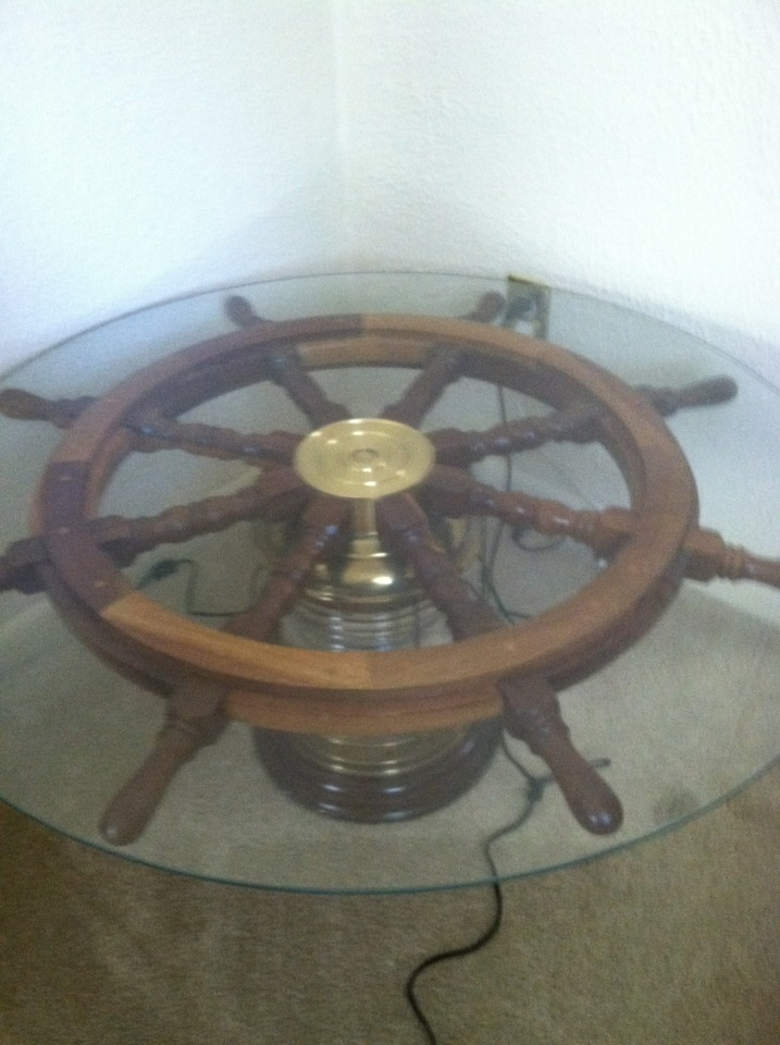 Ship Wheel Light Coffee Table Ship Wheel Pinterest Coffee Coffee Tables And Tables