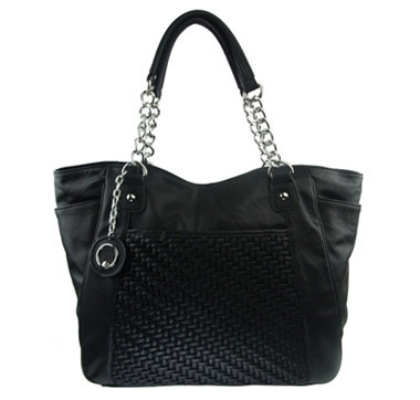 Club Rochelier Margarida Collection Weave Tote with Chain Strap  #ilovetoshop