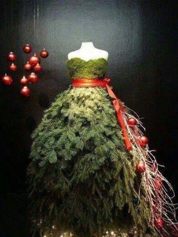 X-mas tree dress maken met kleine torso action