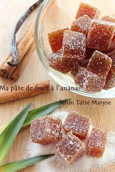 pâte de fruits ananas - recette clic sur photo
