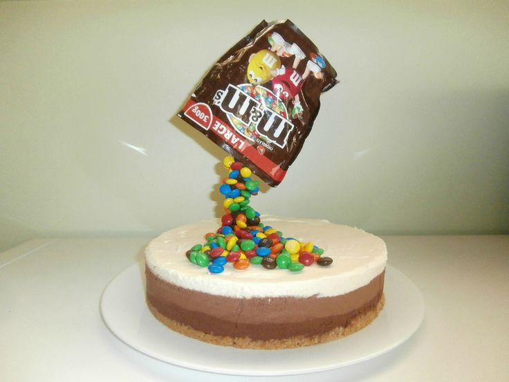 Gravity cake aux Mm's ou gâteau suspendu 3 chocolats