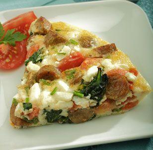 ... Feta Eggs Whit, Delish Food, Eggs Whit Frittata, Feta Frittata, Eggs