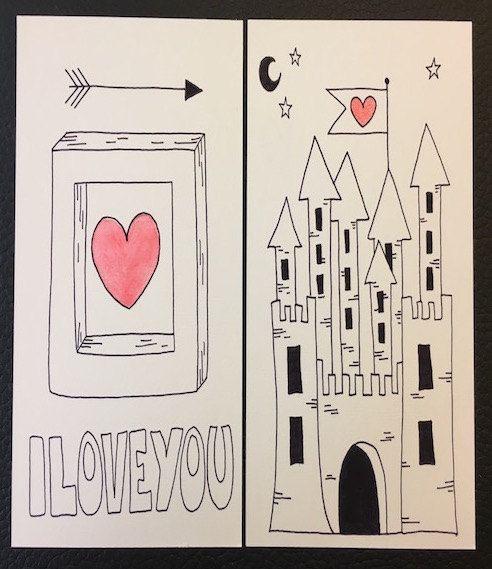 Biglietti stampabili San Valentino, Download istantaneo, Cartoline auguri, Amore, articolo digitale di ELdesingArt su Etsy