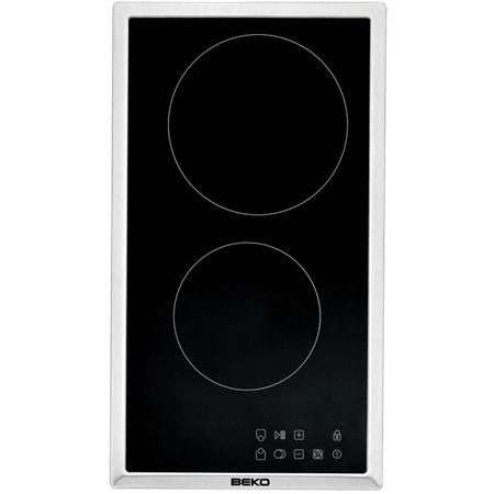 Beko 300mm 2-Zone Ceramic Domino Touch Cooktop, HDMC32400X