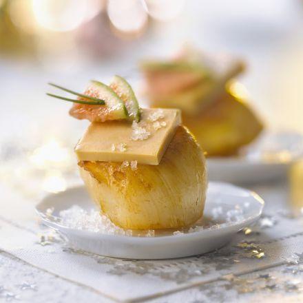 Bouchées de Saint-Jacques au foie gras