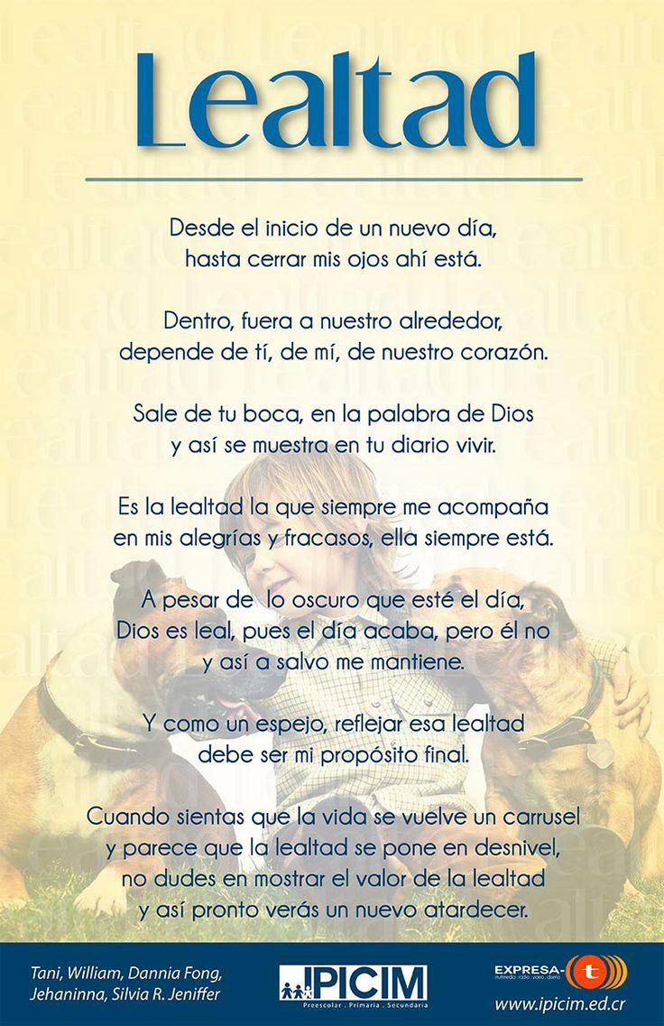 Lealtad, #poema