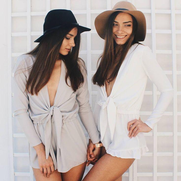 Nunu twins wearing long sleeve rompers #nunugirl