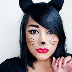 DIY Halloween makeup #cat #halloween #makeup
