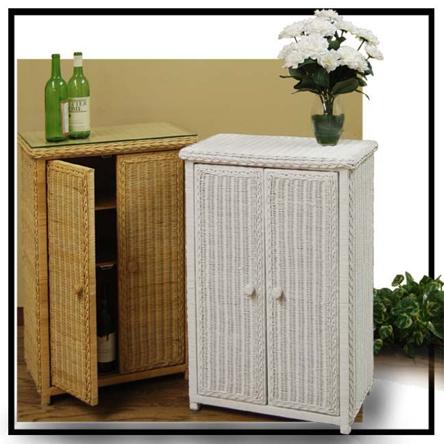 140 best images about white wicker on pinterest full - Wicker bathroom storage cabinets ...