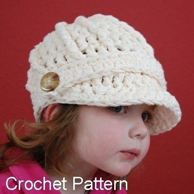 Brimmed beanie - crochet: Brimmed Beanie, Baby Easy To Crochet, Crochet Hats, Brimmed Crochet, Make It Happen, Crochet Patterns, Knits Brimmed Hats, Crochet Beanie,  Poke Bonnets