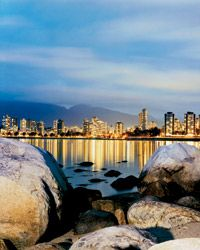Martin Morrell Looking toward Sunset Beach and downtown from Vanier Park, in Kitsilano.