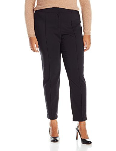 plus size tapered leg dress pants