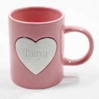 Pink Heart Ceramic Mug
