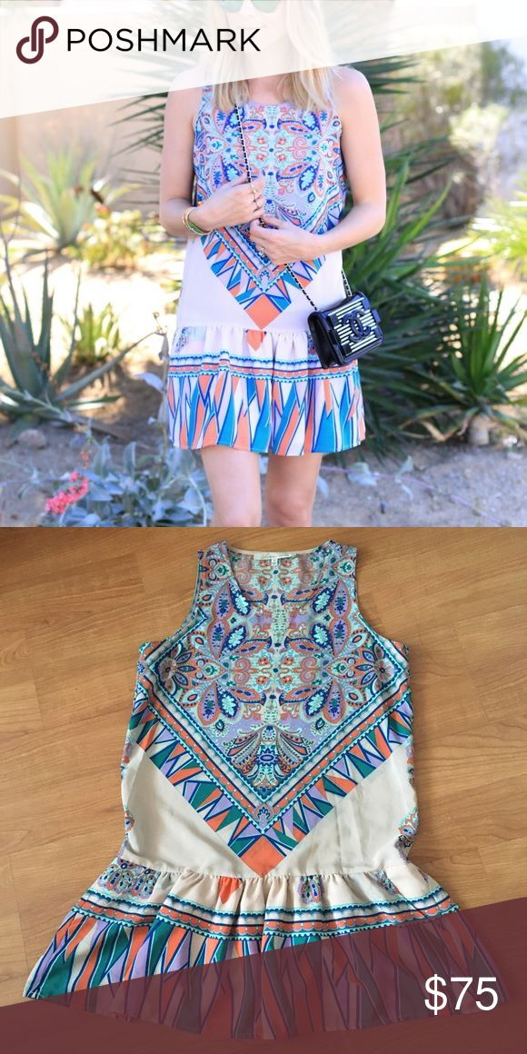 Lovers and Friends Tribal Aztec Drop Waist Dress M This is a gorgeous Lovers and Friends dress in size M, fits loosely, features a drop waist style Lovers + Friends Dresses