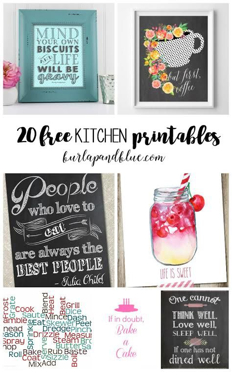 Is your kitchen in need of a bit of a spruce up? In today's post, I'm sharing 20 of my favorite free printables for the kitchen! These are perfect to display either in a frame, or hung …