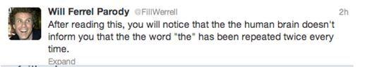 Fake Will Ferrell Tweets List