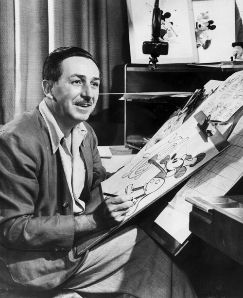 My grandpa died before I was born, and whenever I would see pictures of him when I was little, I would always imagine that he was Walt Disney. I think it was because he kind of looked like him, but also my mom would tell me stories about him and he just seemed like the kind of guy Walt Disney was. :)