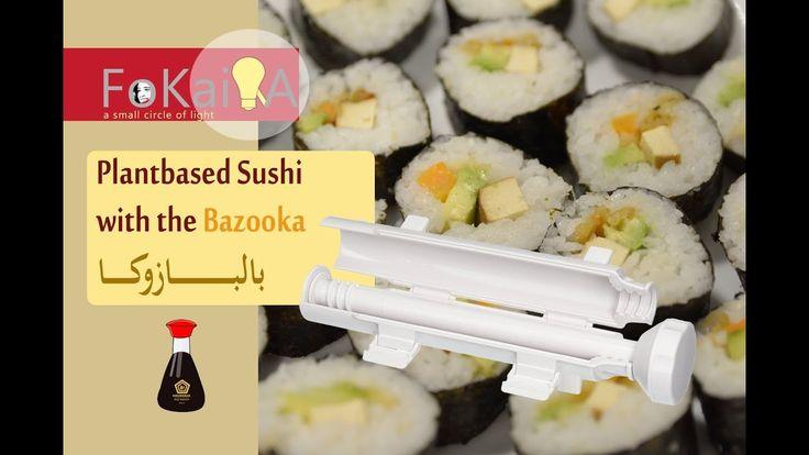 [Eng sub] Vegan sushi الفكيرة 223 | طريقة عمل السوشي النباتى بالبازوكا