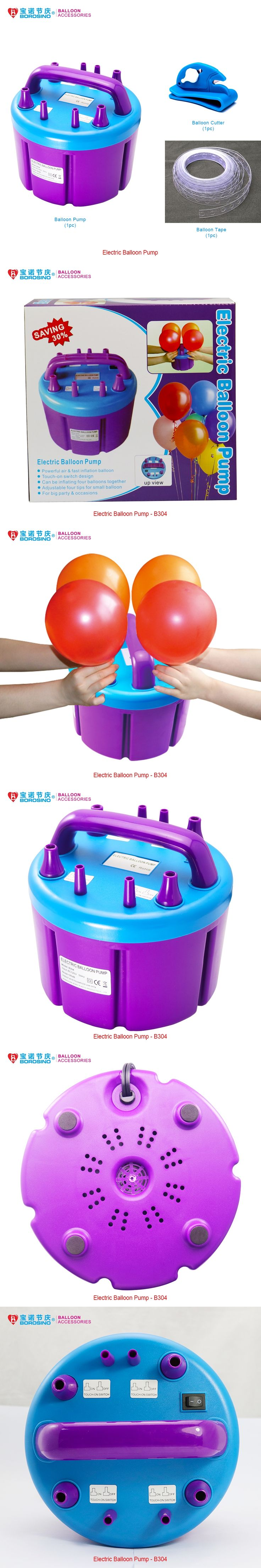 B304 Free Shipping High Power Four Filling Nozzle Inflatable Electric Balloon Pump Air Inflator Machine