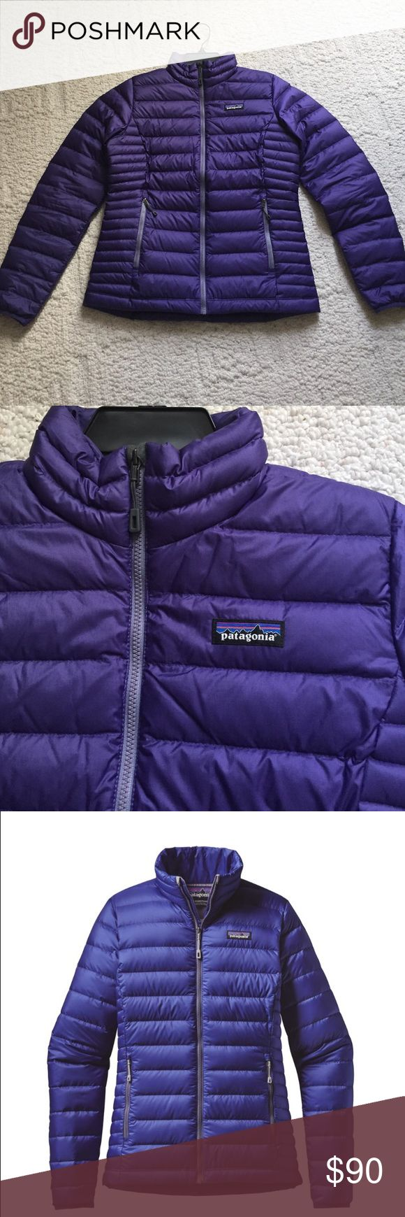 Patagonia Down Sweater Jacket Women's Patagonia down sweater jacket for women. Purple color. One inside pocket and two outside hand pockets. Excellent condition, no flaws. Purchased from REI. Patagonia Jackets & Coats Puffers