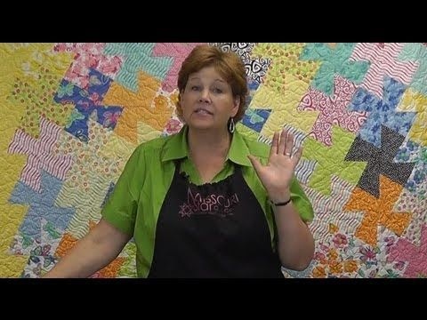 Video: The Amazing Twister Tool - Quilting Made Easy.  Starts with a pattern sewn and then cuts out small pieces on an slight offset angle.  The pieces fit together, to form a beautiful pattern.