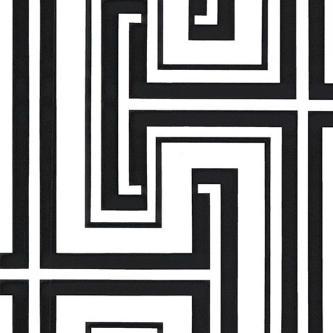 Black and White Matrix Geometric Wallpaper