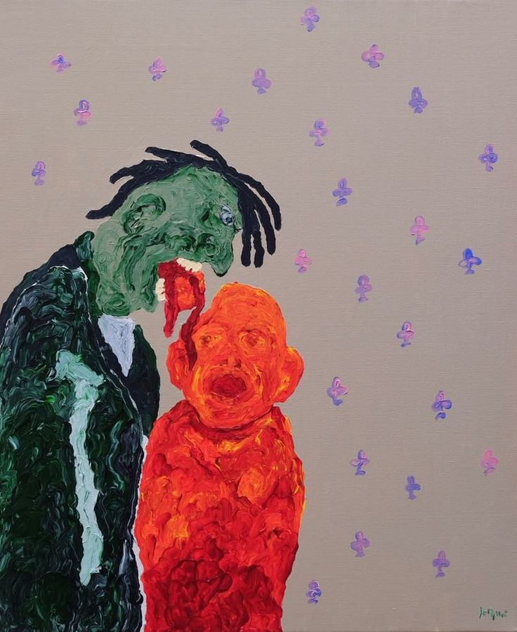 acrylic on canvas  73 x 60 cm.