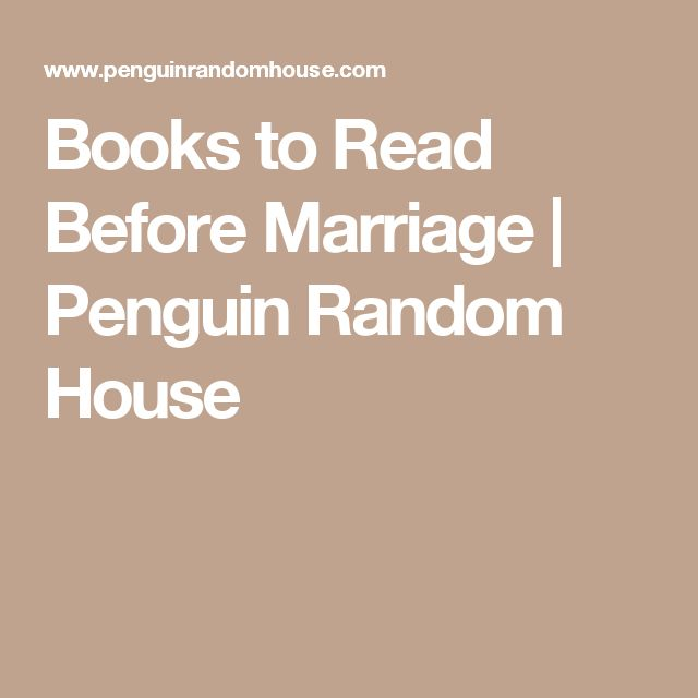 Books to Read Before Marriage | Penguin Random House
