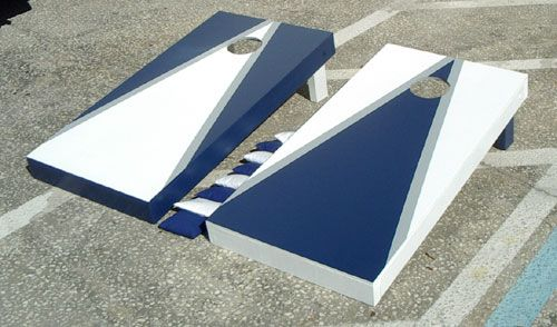 corn hole design graphics display with a small great for the outfit