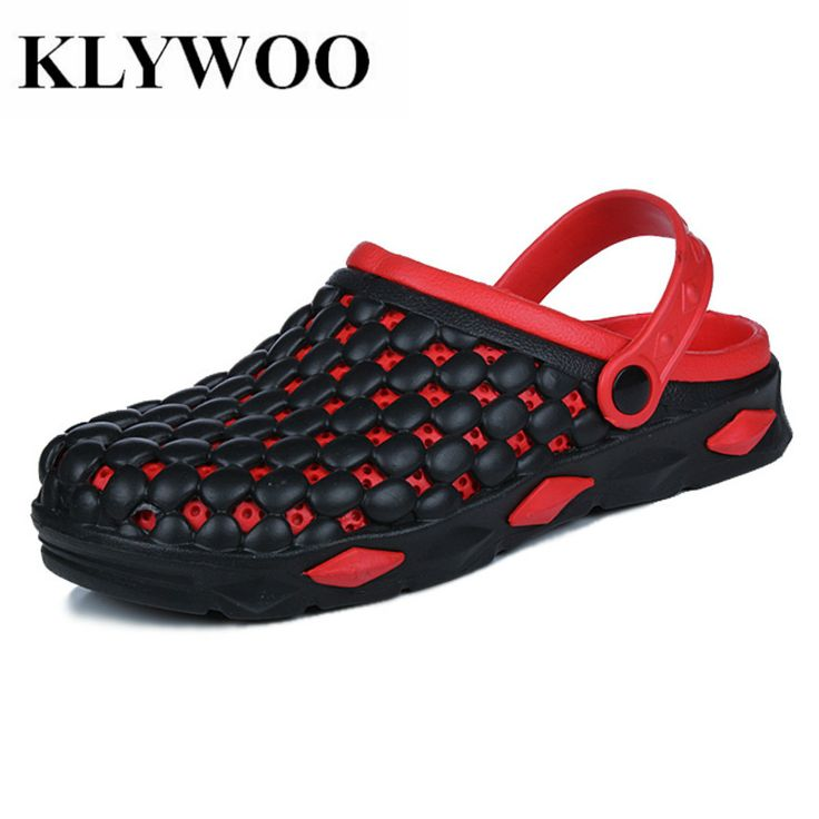 >> Click to Buy << KLYWOO Men Slippers Plus Size 45 Summer Men Sandals Jelly Shoes Casual Breathable Slides Slip On Slippers Men Beach Sandals  #Affiliate