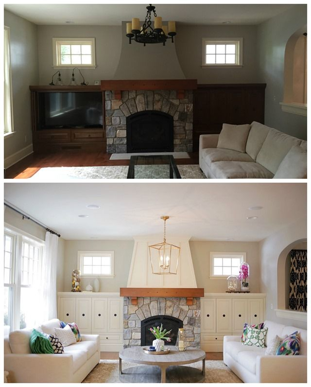 A Family Room Before After
