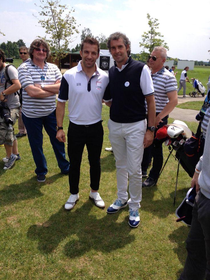 Alex Del Piero e Raimondi #raimondigolfshoes #delpierocruyffplatiniproam #royalparkRaimondi's #golfshoes #italiangolfshoes #madeinitaly #handmadeinitaly #italianstyle #raimondisclub golf shoes
