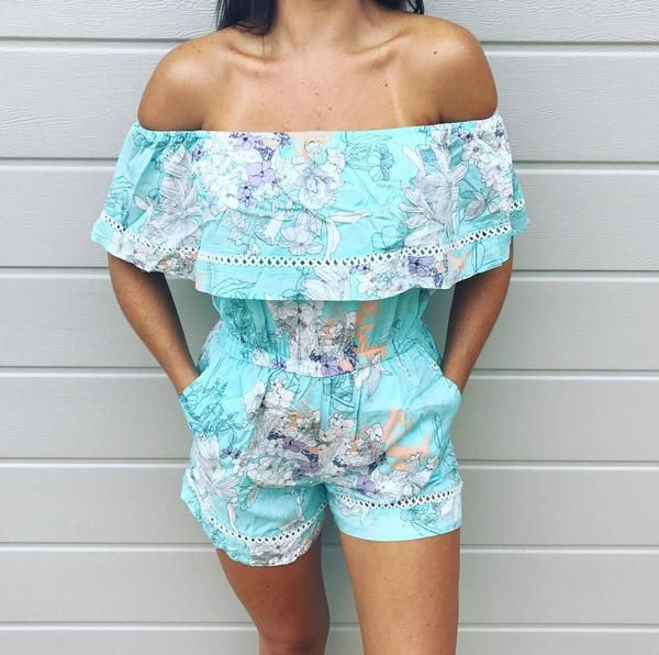 ADRIANNA PLAYSUIT - SKY BLUE  Available now in our online store at www.harlynsummer.com.au