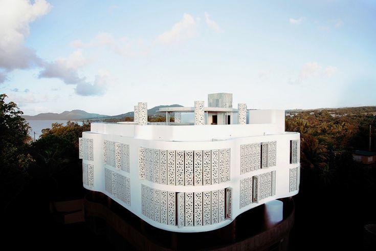 el blok hotel by fuster + architects features dynamic concrete façades