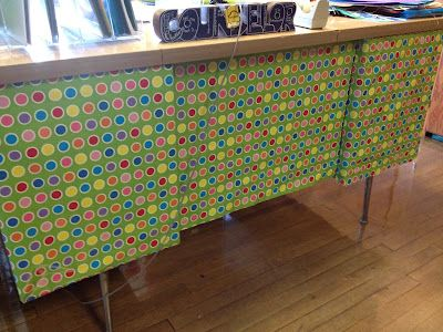 Entirely Elementary...School Counseling: Office Organization...Can use decorative duct tape or wall paper to decorative a desk up.