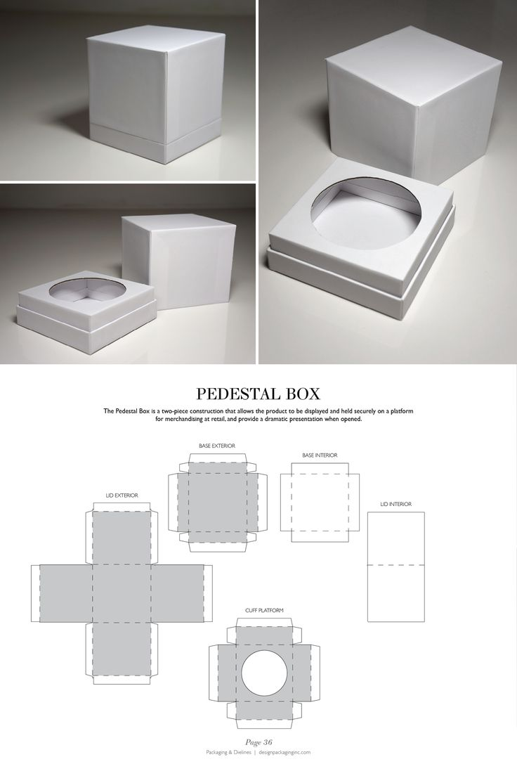 Pedestal Box - Packaging & Dielines: The Designer's Book of Packaging Dielines