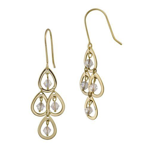 18k Gold Plated Sterling Silver and Aurora Borealis Crystallized Swarovski Elements 4 Drop Chandelier Earrings Amazon Curated Collection. Save 70 Off!. $29.00. Made in Thailand