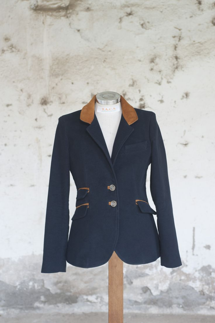 "Giacca ""Katia"" con inserti in pelle Jacket with leather inserts"