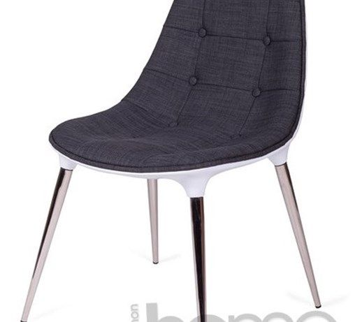Krzesło PHILIPPE PASSION szare tkanina, archonhome.pl - Krzesła kuchenne - zdjęcia, pomysły, inspiracje - Homebook