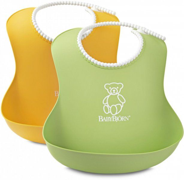 Babybjörn 2 śliniaki , Zielony / Żółty   MALL.PL
