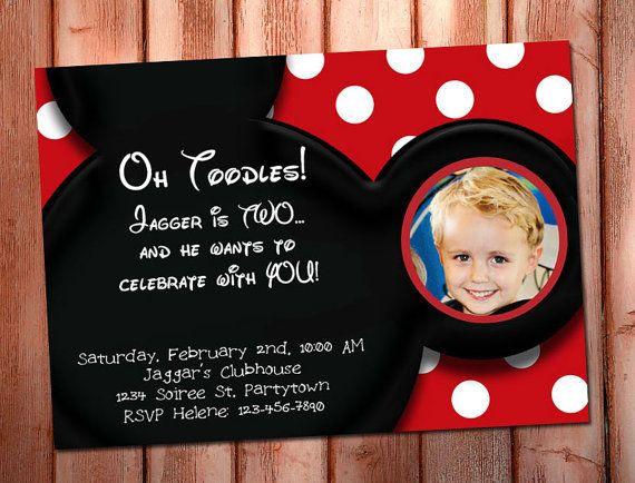 MICKEY MOUSE INVITATION  ~ Printable Photo Birthday Invite