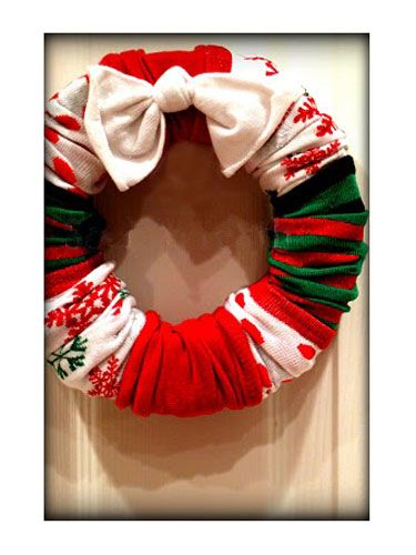 Sock Wreath