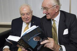 """The line's broken,"" said Malcolm Fraser on the death of his friend Gough Whitlam. http://www.smh.com.au/federal-politics/political-news/the-lines-broken-malcolm-fraser-mourns-his-friend-gough-whitlam-20141021-119a5d.html"