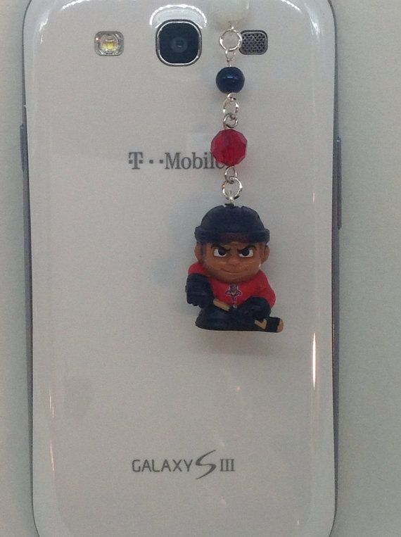 Flordia Panthers hockey cell phone charm dust by PmBSparklesLinks, $11.00