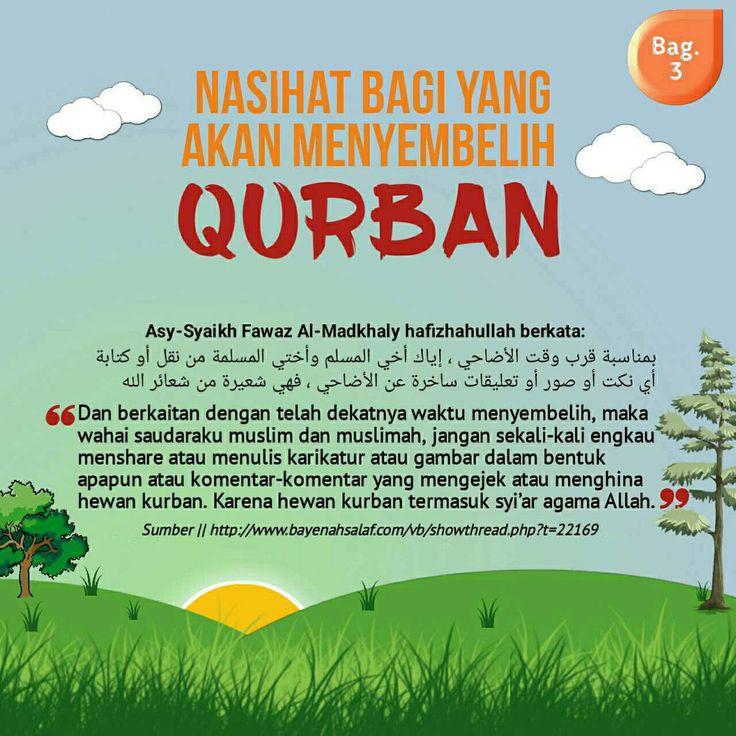 Follow @NasihatSahabatCom http://nasihatsahabat.com #nasihatsahabat #mutiarasunnah #motivasiIslami #petuahulama #hadist #hadits #nasihatulama #fatwaulama #akhlak #akhlaq #sunnah  #aqidah #akidah #salafiyah #Muslimah #adabIslami #DakwahSalaf # #ManhajSalaf #Alhaq #Kajiansalaf  #dakwahsunnah #Islam #ahlussunnah  #sunnah #tauhid #dakwahtauhid #alquran #kajiansunnah #salafy #qurban #kurban #korban #nasihatbagiyangmenyembelihkurban #adabberkurban #gambarkarikaturkurban #sharedimedsos