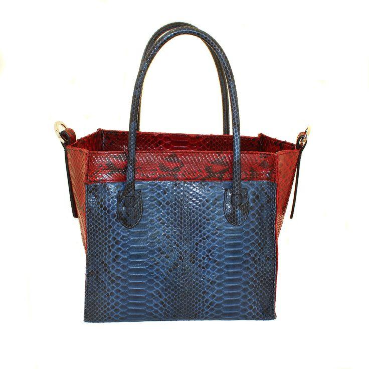 Borsa in vero pitone bicolore da Salamastra - Authentic two color python bag by Salamastra