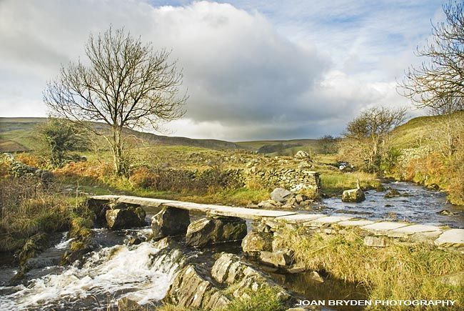 Clapper Bridge, Crummackdale, Yorkshire Dales National Park, North Yorkshire, England