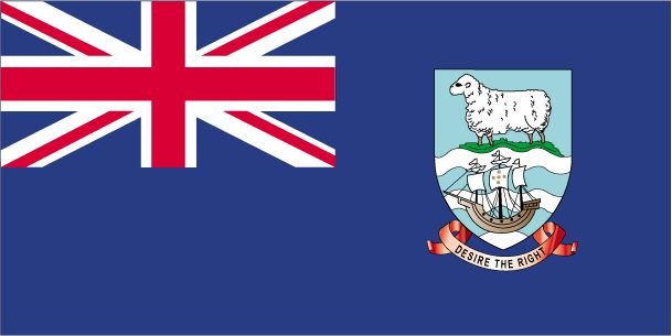 British Overseas Territories: Falkland Islands Flag