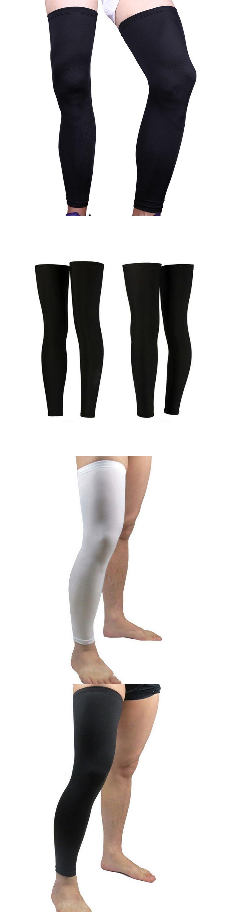 2 pcs/pair super elastic lycra basketball knee pad support  brace football leg calf thigh compression sleeve sports safety